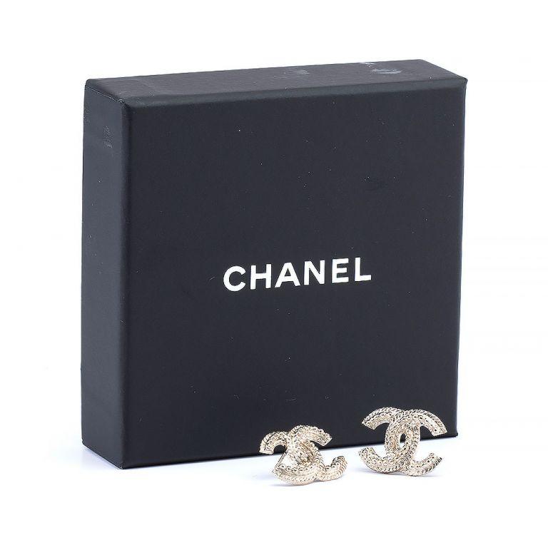 Chanel Gold-Tone Stud Earrings