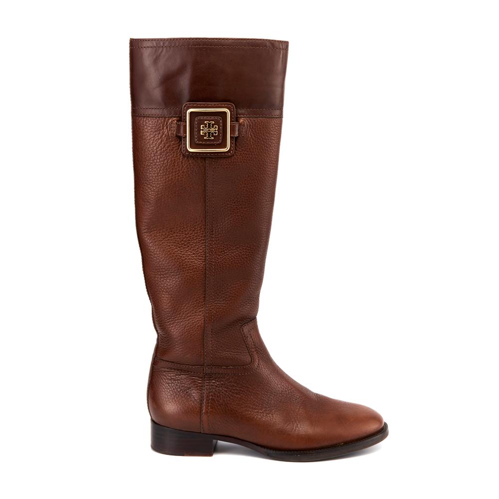 b9f753b84f4 Tory Burch Round-Toe Riding Boots
