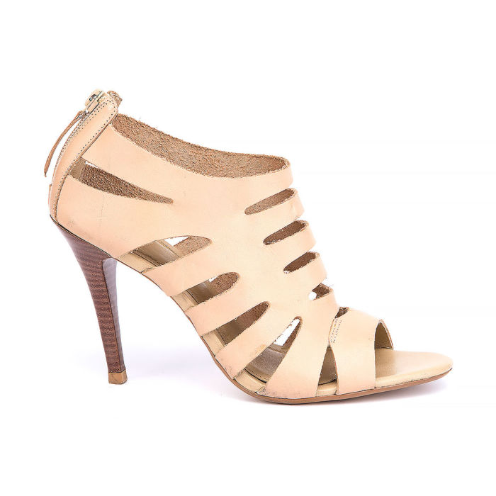 Carrano Leather Cage Sandals