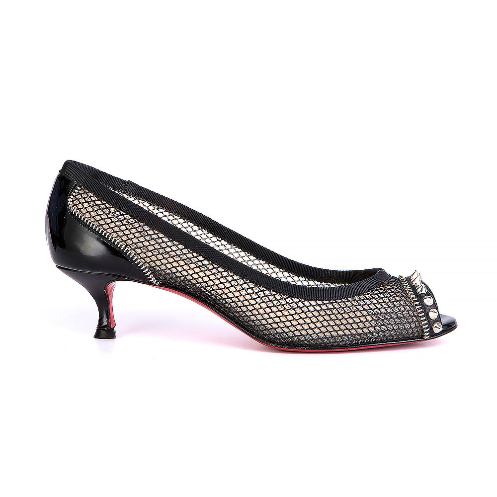 659c96bbc8 Christian Louboutin Peep-Toe Pumps | The Changing Room