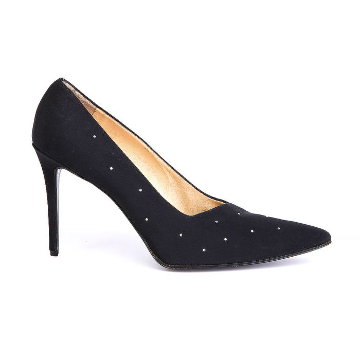 Kurt Geiger Black Textile Pointed-Toe Pumps