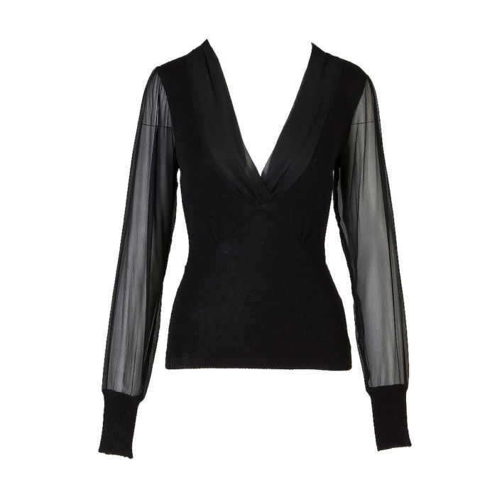 Etincelle Black Knit Long Sleeve TopEtincelle Black Knit Long Sleeve Top