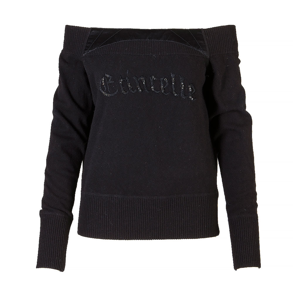 Etincelle Black Knitted Long Sleeve Jumper