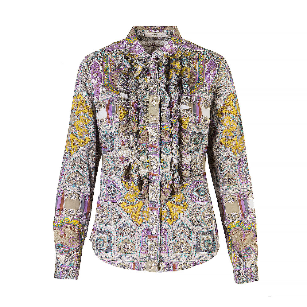 Etro Long Sleeve Shirt With Pointed Collar