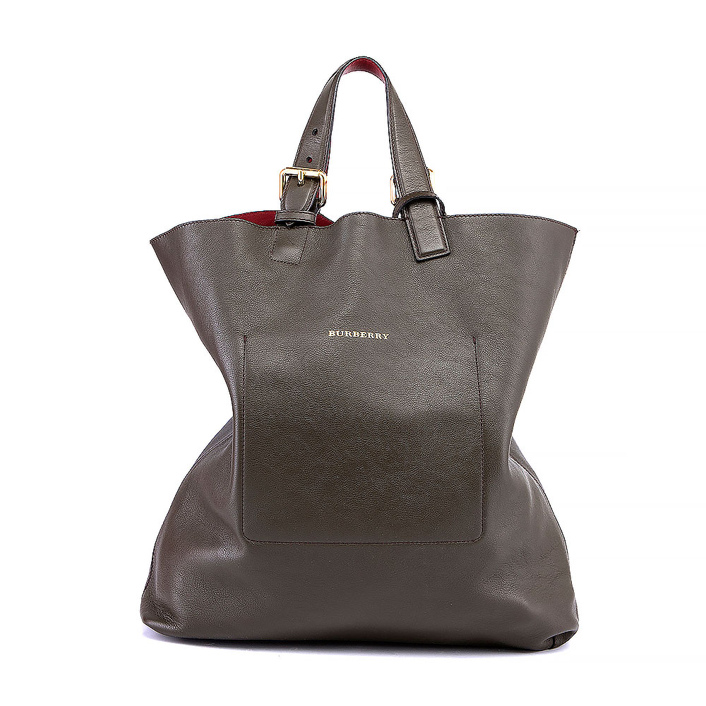a565fdf0031f Burberry Tote Bag With Burgundy Leather Lining