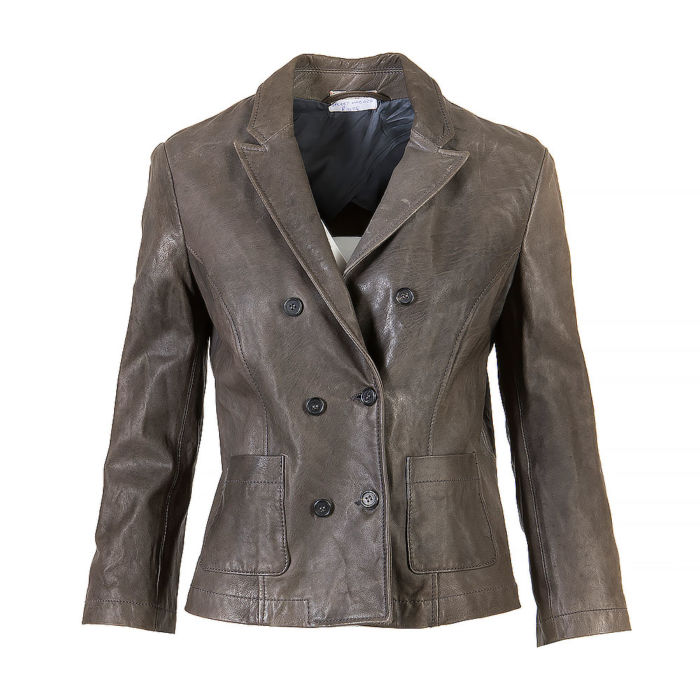 Cropped Sleeve Double Breasted Jacket