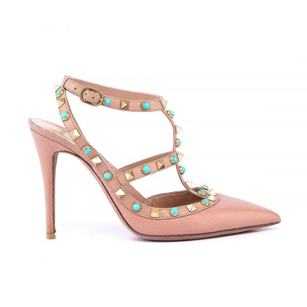 Valentino Pointed Toe Pumps With T Bar