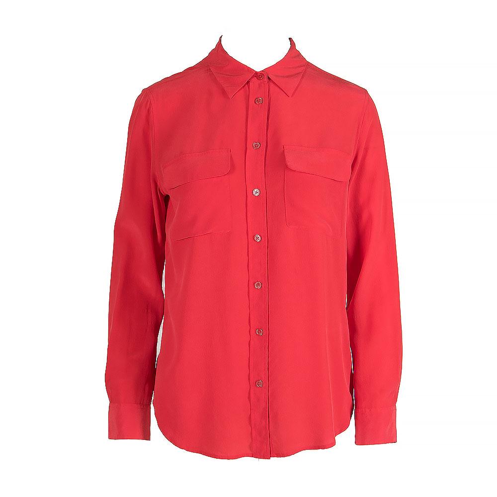 Equipment Long Sleeve Silk Shirt