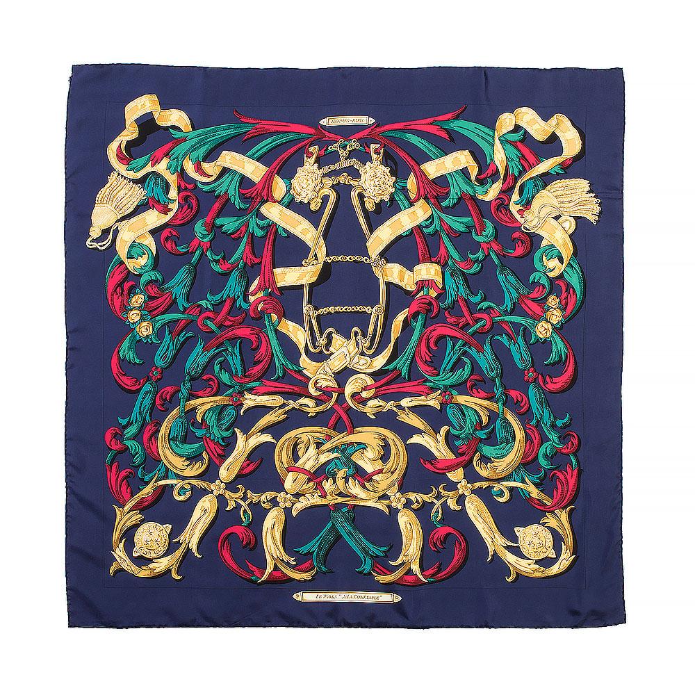Hermès A La Conétable Silk Square Scarf