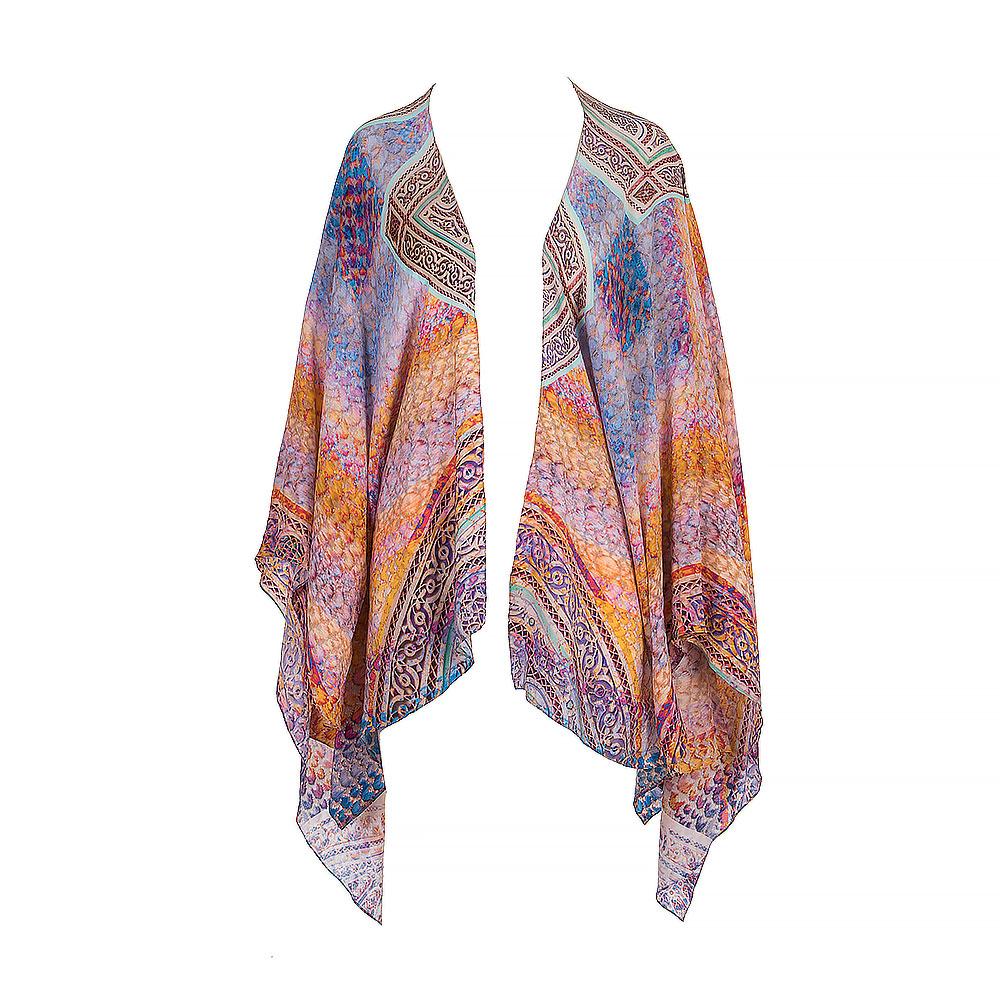 Athena Procopiou Silk Cover Up Open Kimono