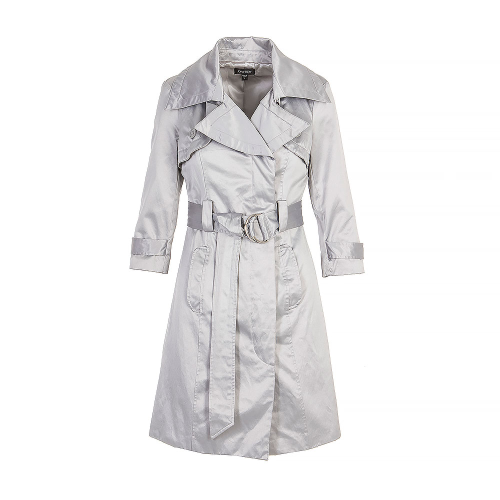 Bebe Knee Length Trench Coat