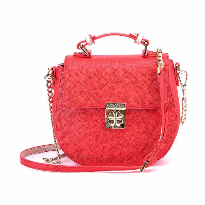 Folli Follie Leather Saddle Bag