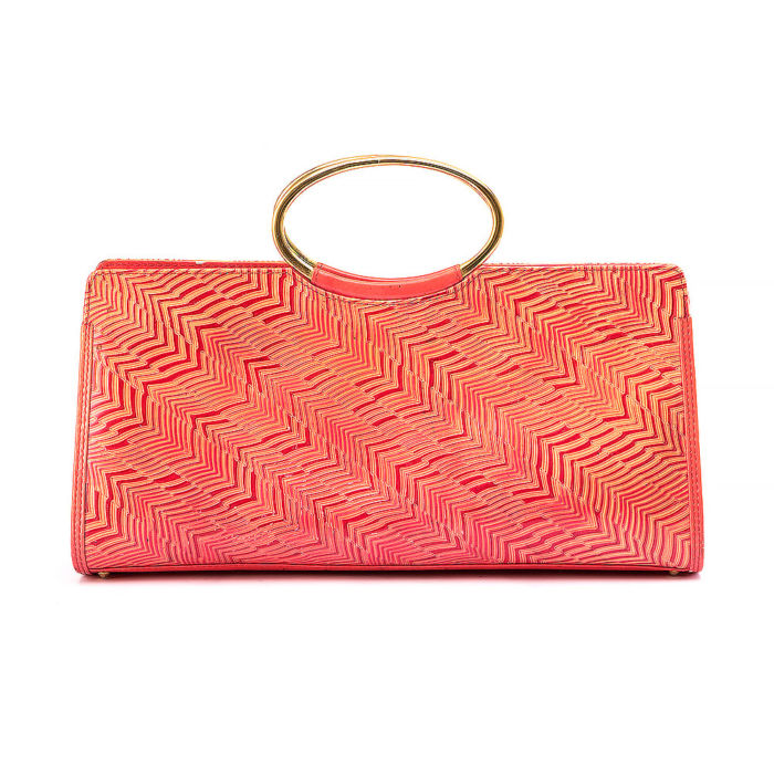 Gianni Versace Orange And Coral Evening Bag