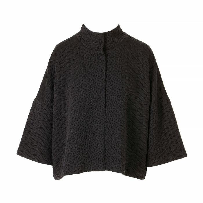 Martha Quilted Half Sleeve Jacket Cape
