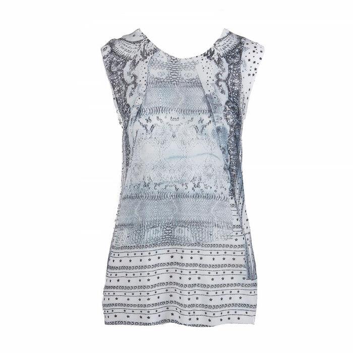 Roberto Cavalli Sleeveless Silk Knit Vest