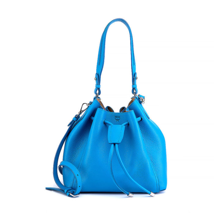 MCM Pebbled Leather Bucket Bag