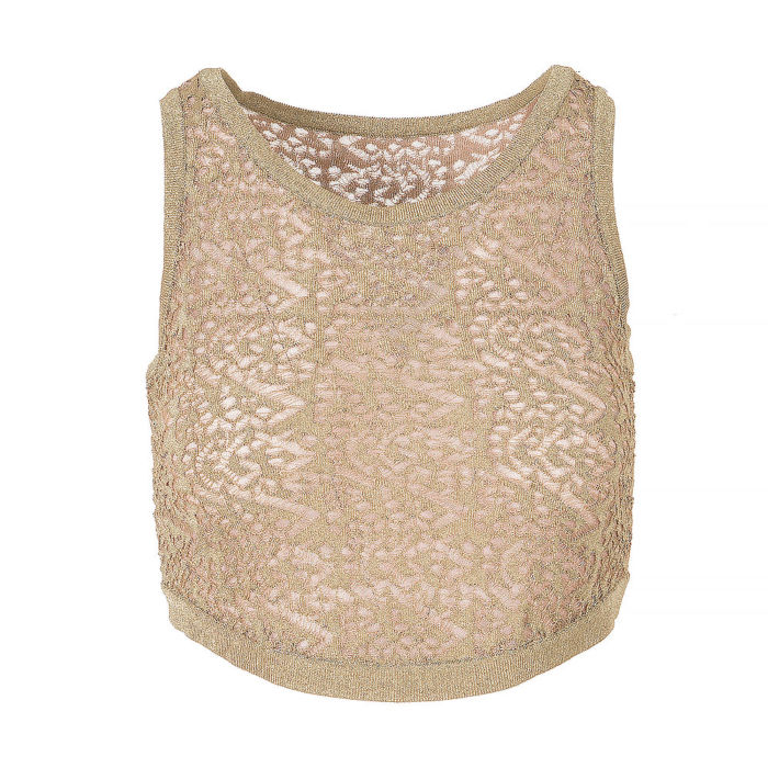 Alaïa Crop Top With Nude Lining