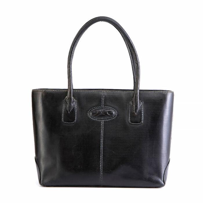 Cape Cobra Leather Shoulder Bag