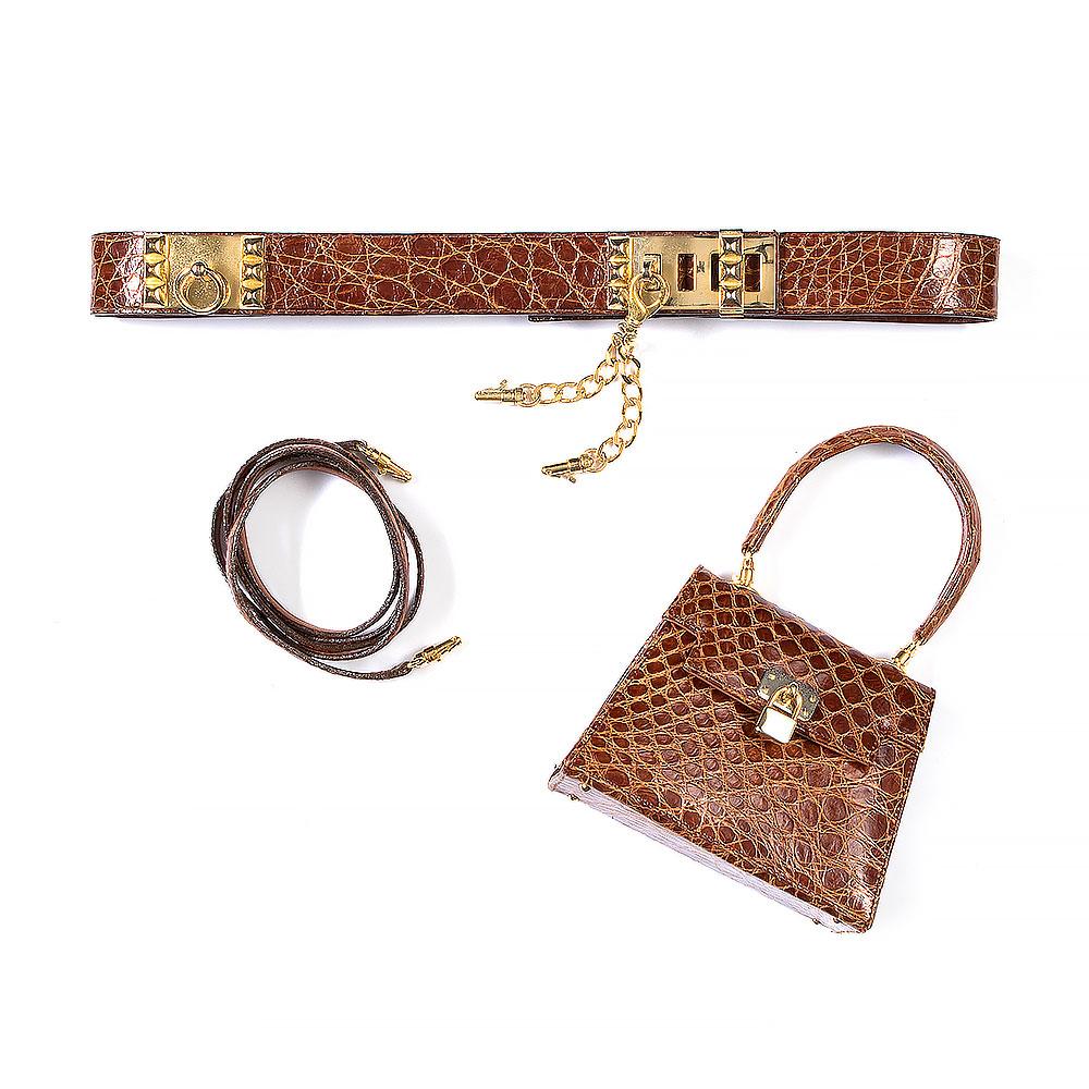 Cape Cobra Genuine Nile Crocodile Belt Bag