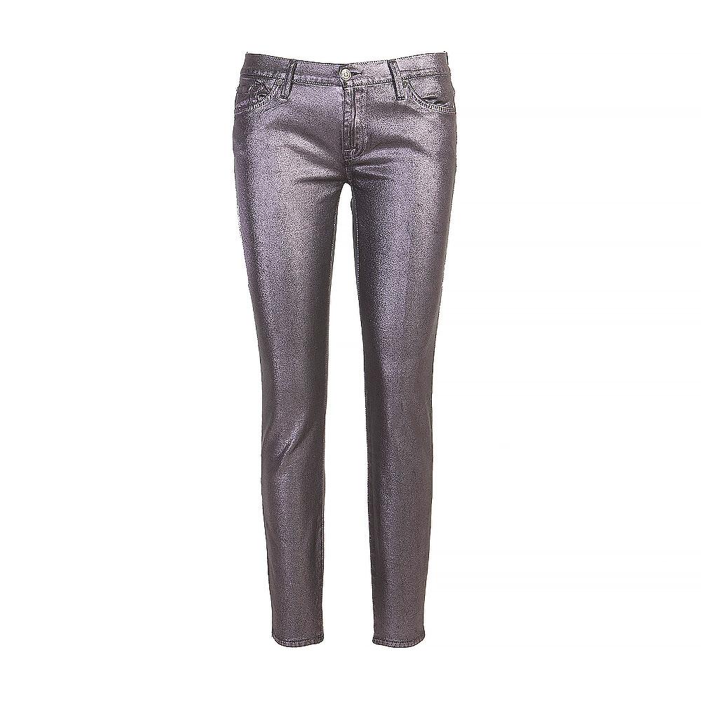 7 For All Mankind Gunmetal Skinny Jeans