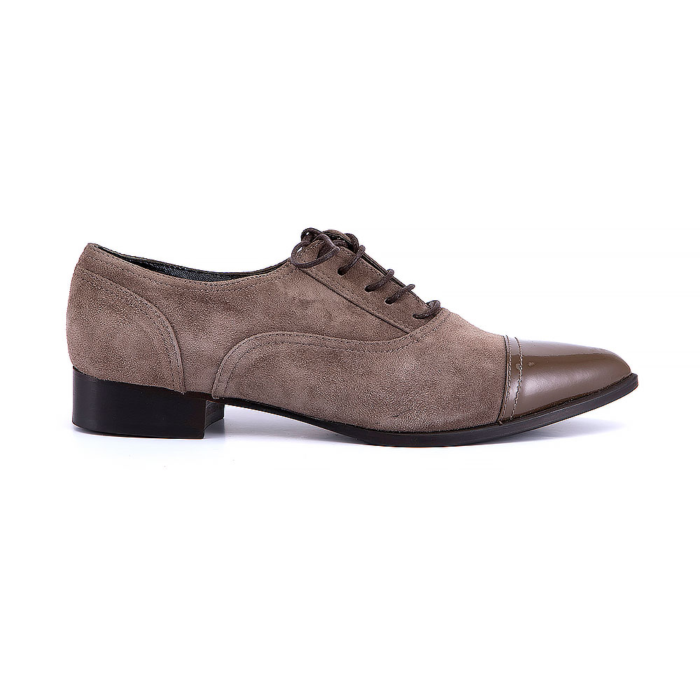 Alberto Zago Suede Pointed Toe Brogues