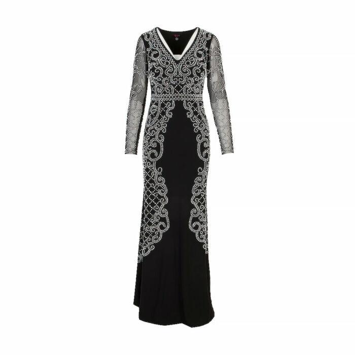 Aqua Black Maxi Dress