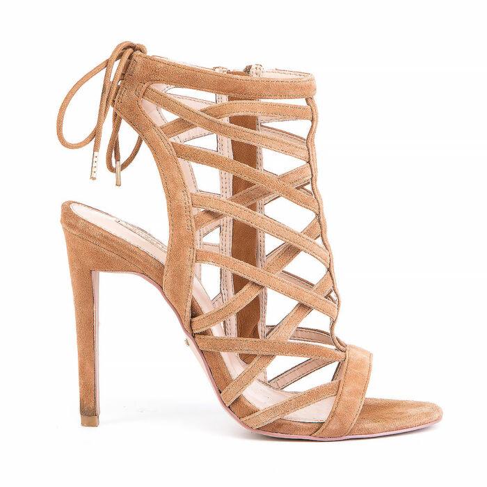 Carvela Suede Cage Sandals
