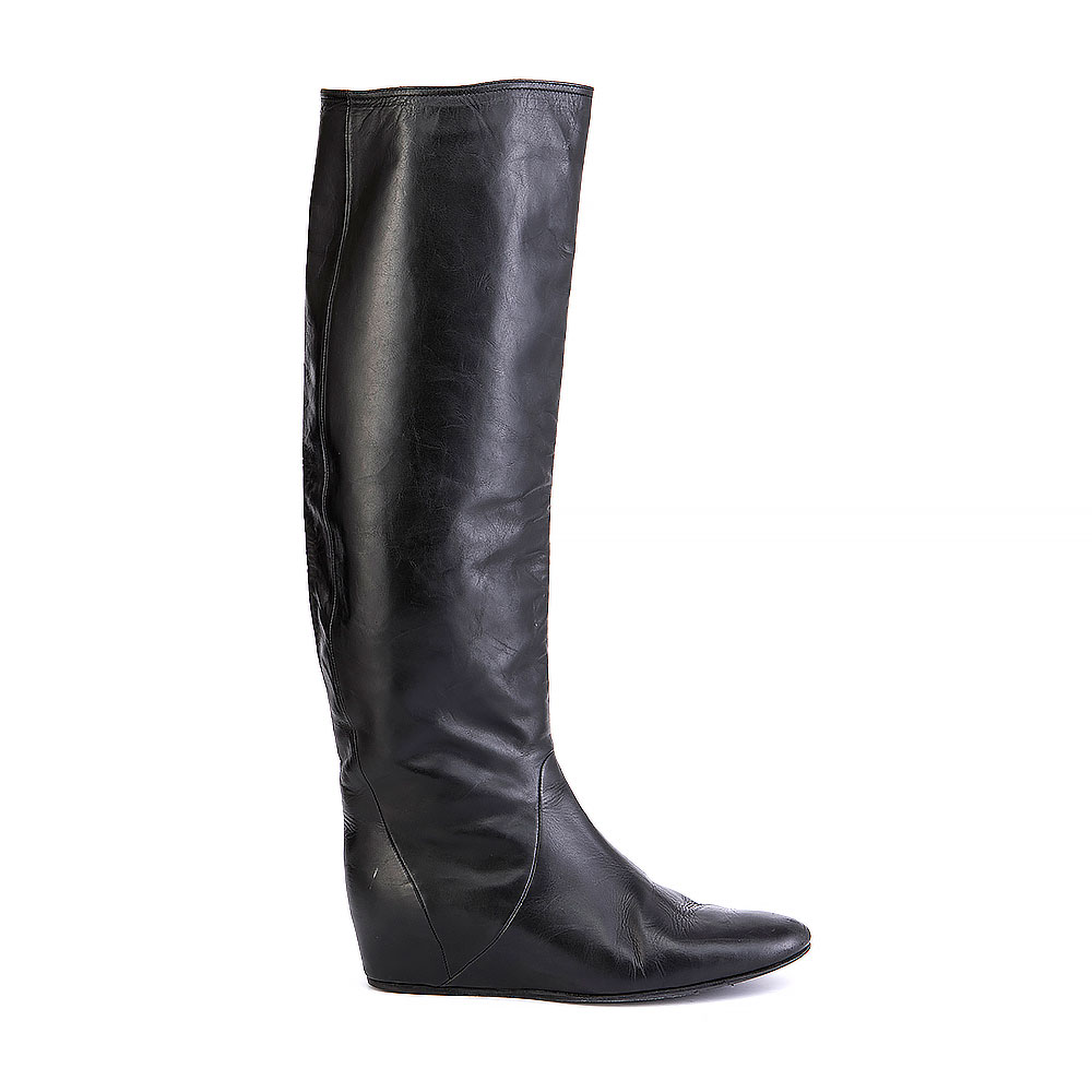 Lanvin Knee-High Round-Toe Boots