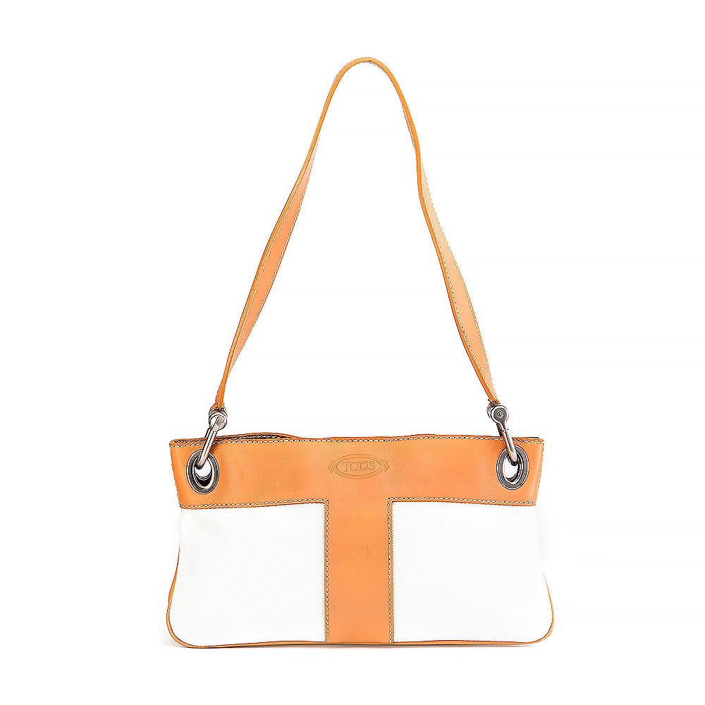 Tod's Ivory Canvas Bag