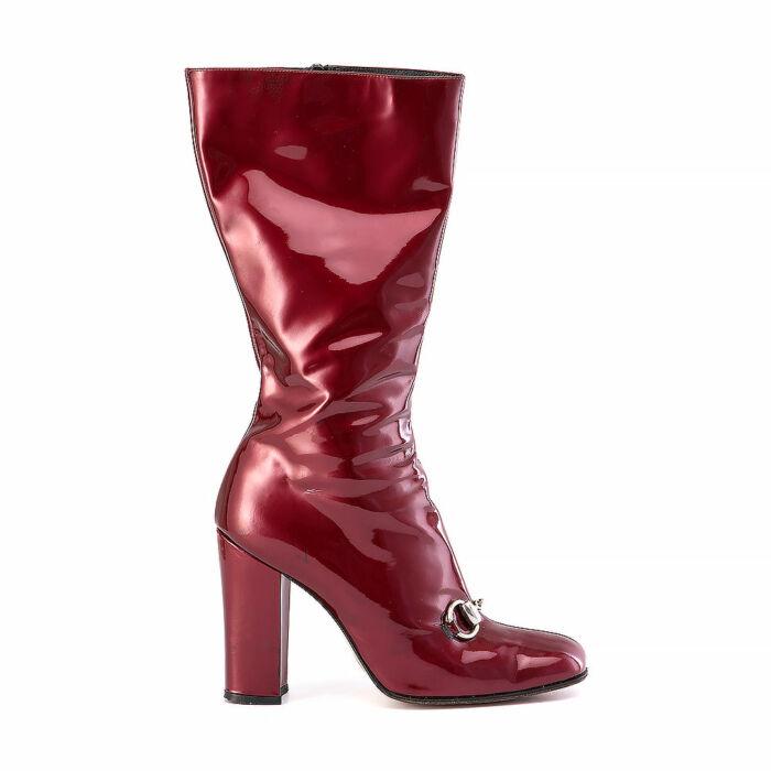 Gucci Crimson Square-Toe Boots