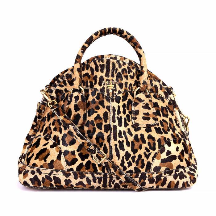 Prada Leopard Bowler Bag
